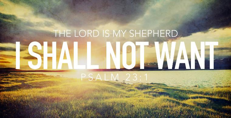 I Shall Not Want - Psalm 23:1 | VirtueOnline – The Voice for ...