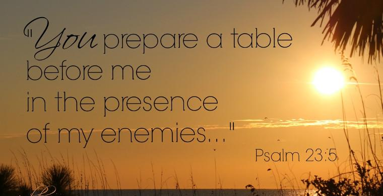 You Prepare A Table Before Me In The Presence Of My Enemies Psalm 23 5 Virtueonline Voice For Global Orthodox Anglicanism