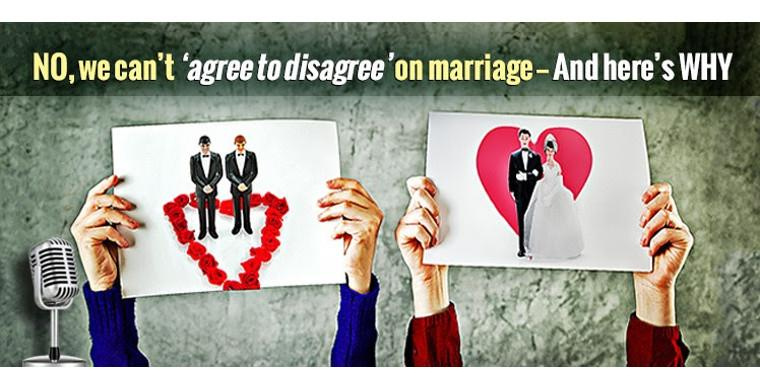 No, we can't 'agree to disagree' on gay 'marriage': And here's why